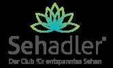 Logo Sehadler Lotusblüte blau mit grün